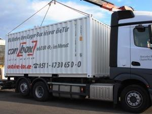Anlieferung container lagerbox transport rechner self storage